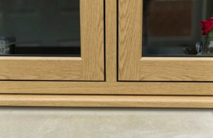 close up of flush casement windows