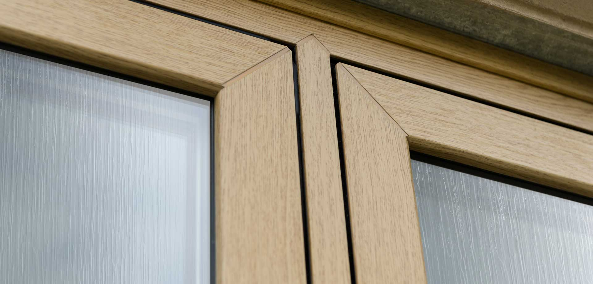 Textured Window Glass with wood frame