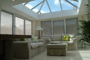 Conservatory with open roof