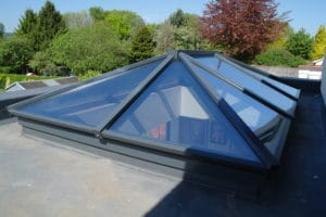 Roof Lanterns on the top of a flat roof