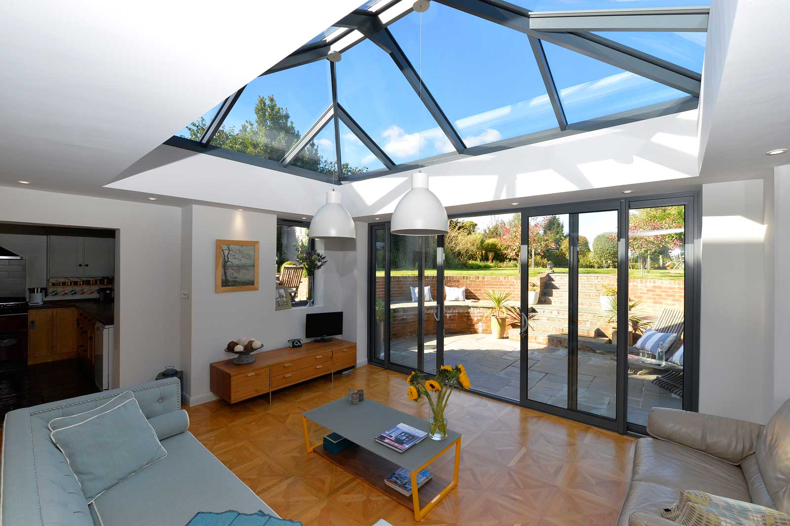 Double Glazing sky light in conservatory