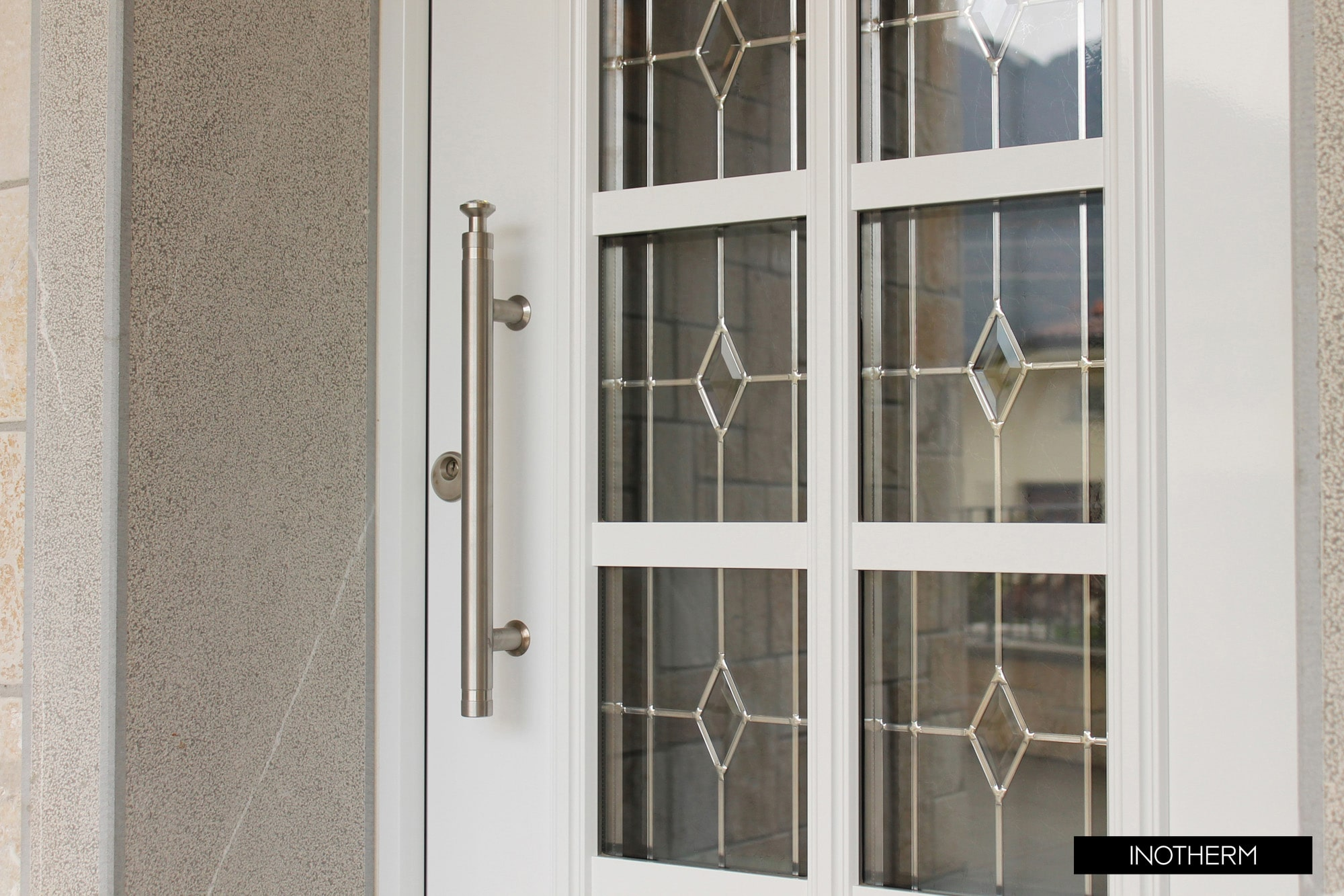 aluminium front door kidderminster glass-min