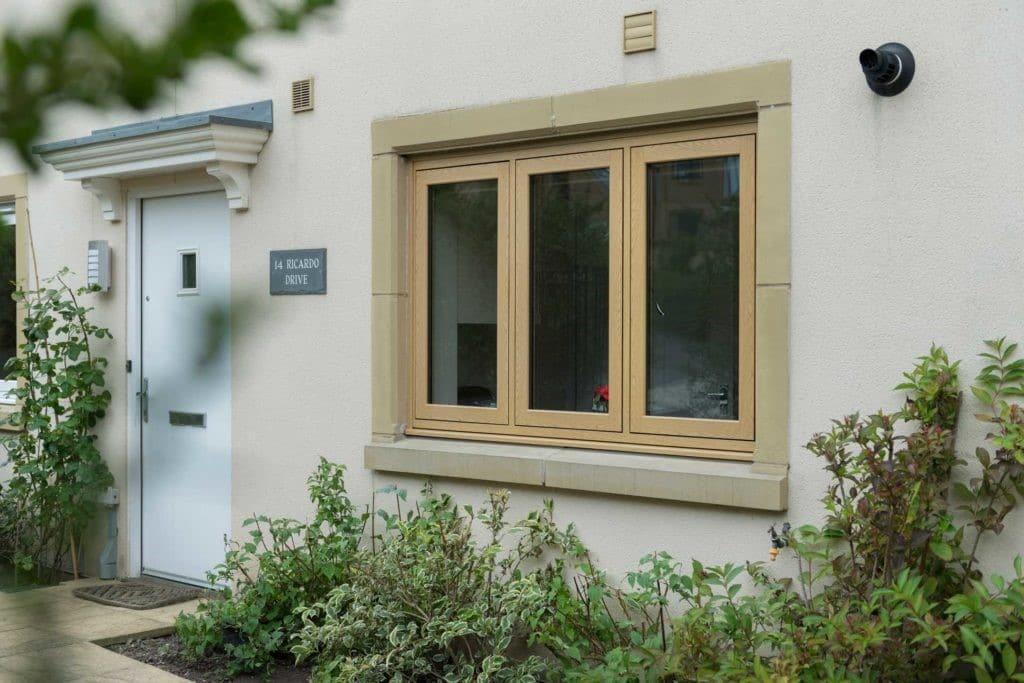 flush casement windows from the outside