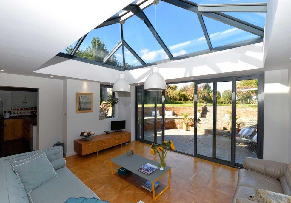 Double Glazing sky light in conservatory